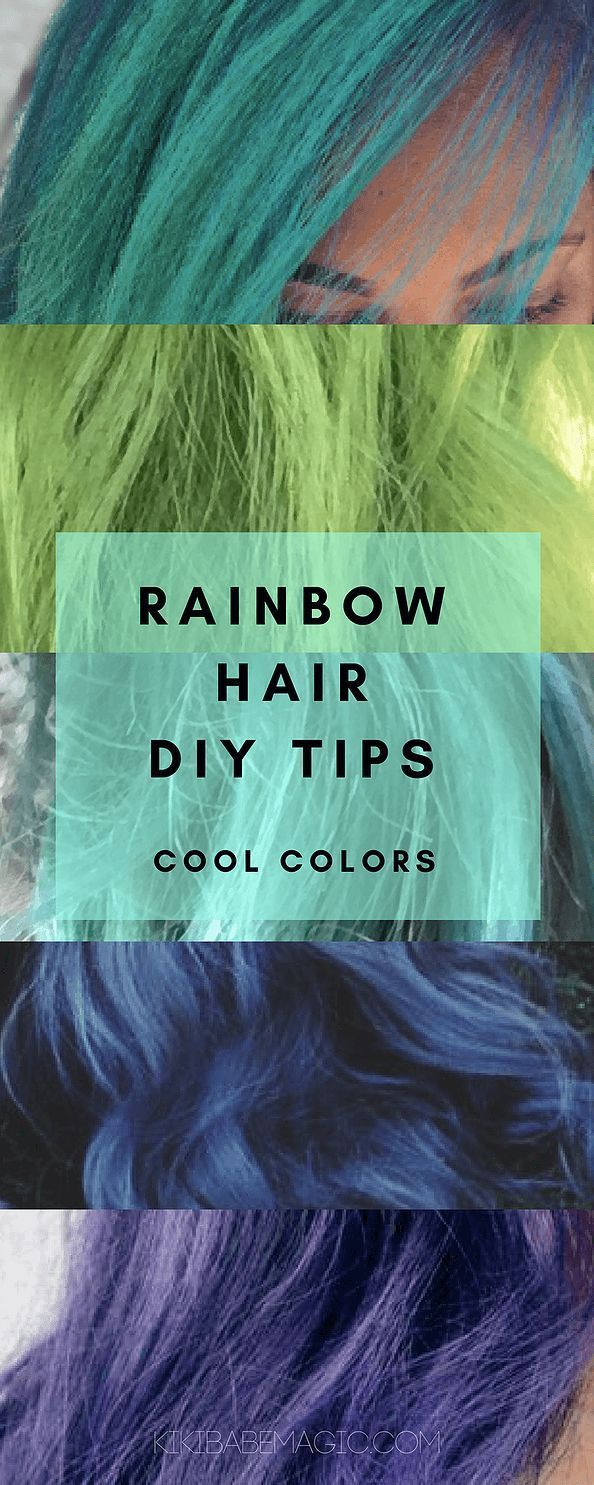 A roundup of some of my favorite cool rainbow hair color looks and