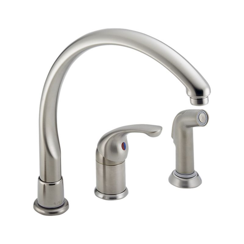 Classic Single Handle Kitchen Faucet With Spray 172Sswf  Single Unique Single Handle Kitchen Faucet Inspiration Design