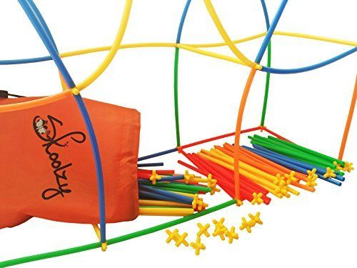 777500046 Connect a Straw Structures by Skoolzy - Building Construction Kit - 200 Pc  Straws & Connectors STEM Set - Preschool Fine Motor Skill Toys for Girls  and Boys
