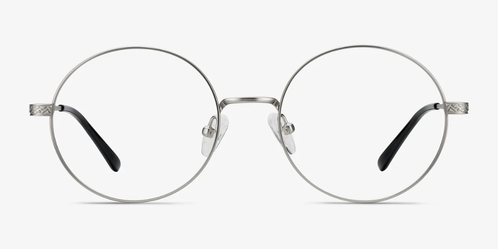 Inscription Round Silver Frame Glasses Round Glasses Frames Silver Frame Eyebuydirect