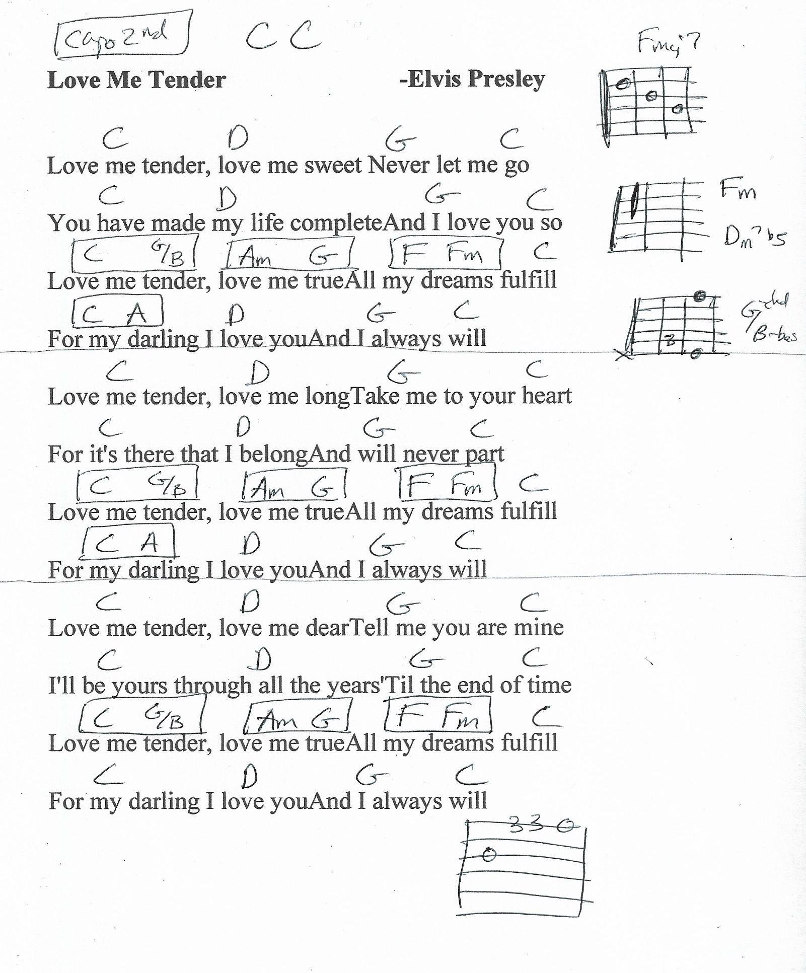 Love Me Tender Sheet Music By Elvis Presley Ukulele Lyrics Chords 122968 Ukulelelessons Gitarren Songs Ukulele Lieder Gitarre Lieder