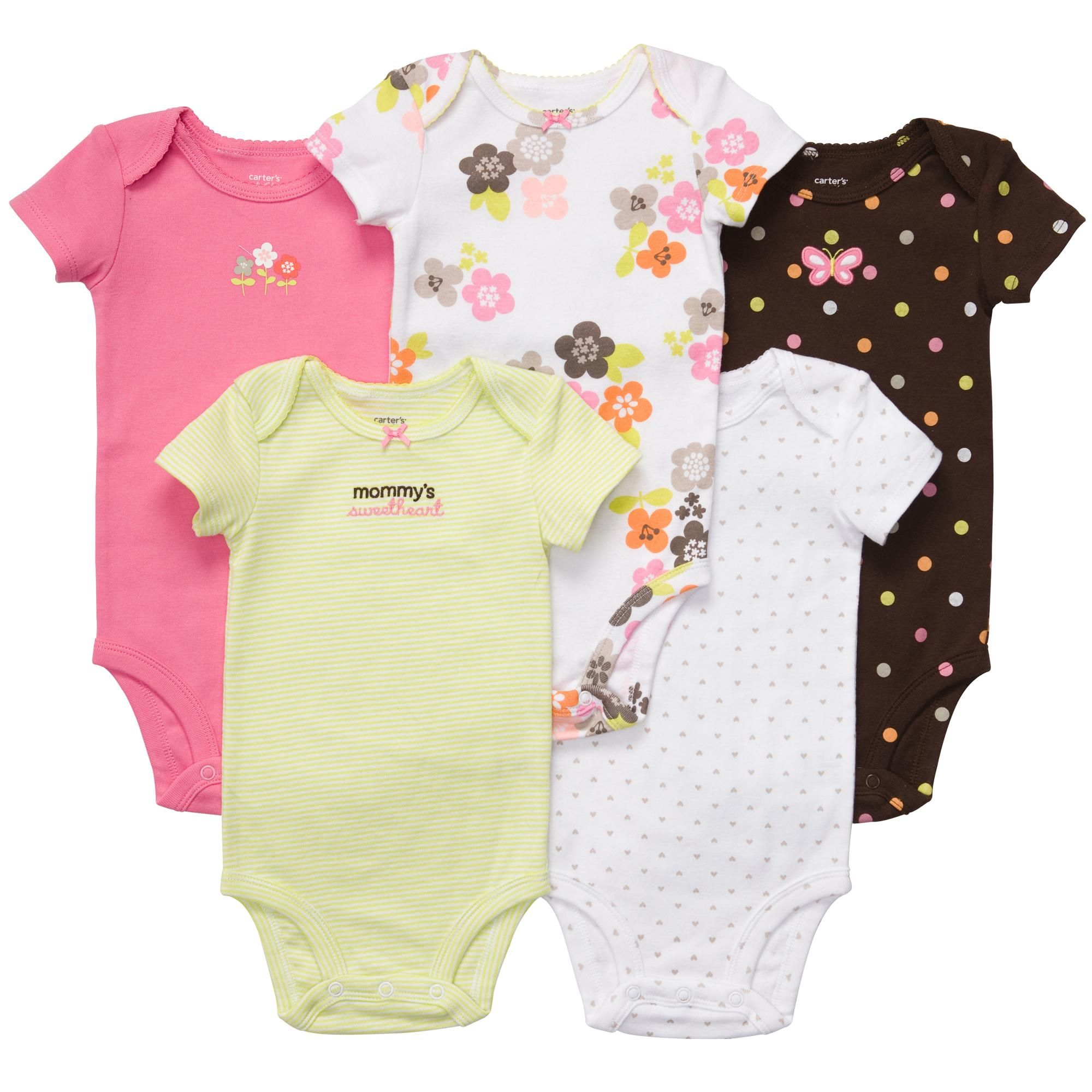 745b059a43d09 Short Sleeve 5-Pack Bodysuits from carter's $13 (don't love the ...