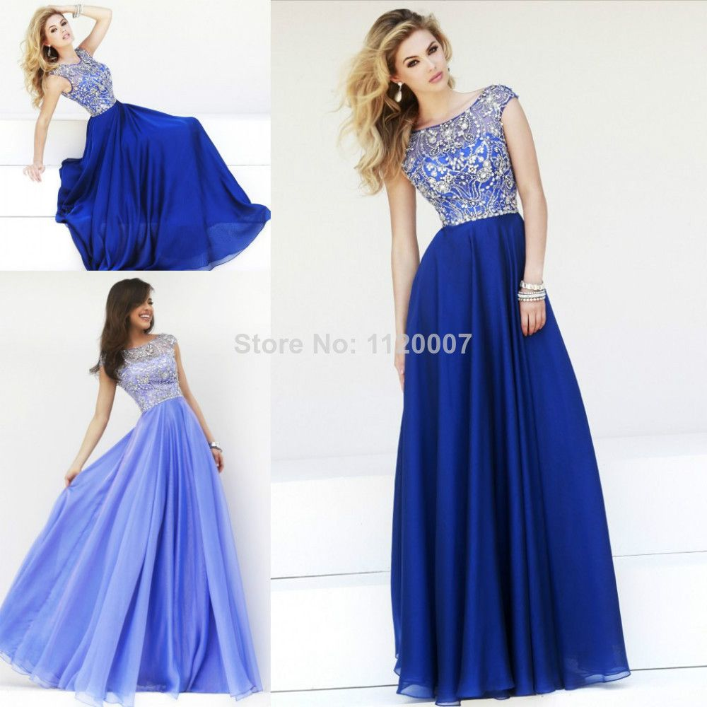 Modest Prom Dresses with Sleeves | Royal-Blue-Lilac-Modest-Long ...