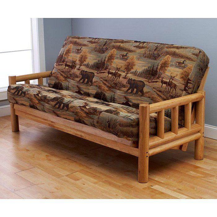 lodge  plete full size futon set by kodiak lodge  plete full size futon set by kodiak   wood futons by      rh   pinterest