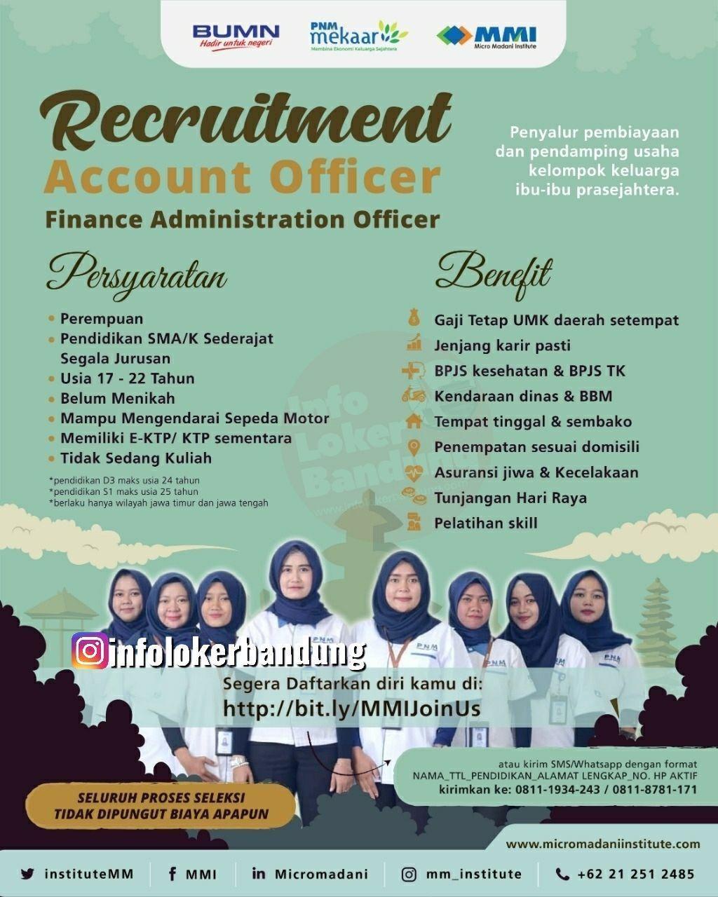 Lowongan Kerja Account Officer & Finance Administration