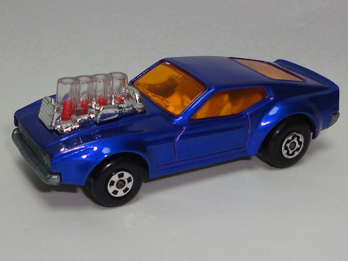 Vintage 1973 Matchbox Purple Mustang Piston Popper Number