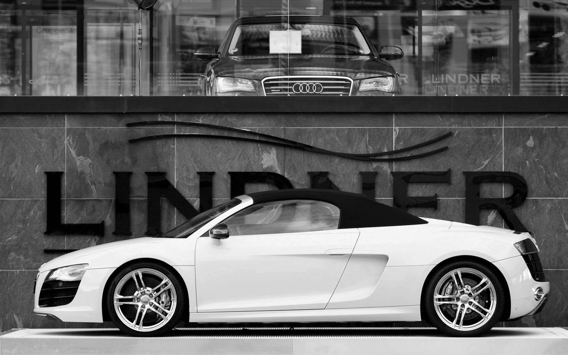 Gentil White Audi R8 Spyder Wallpapers