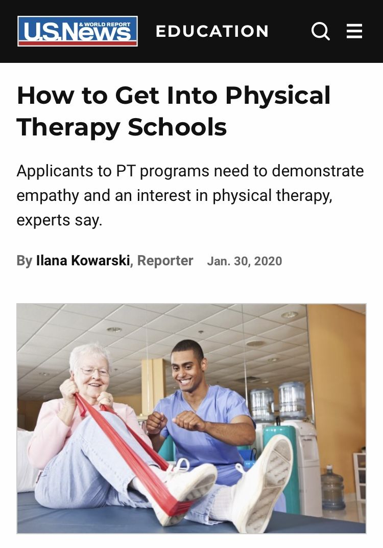 How To Get Into Physical Therapy Schools In 2020 Physical Therapy School Physical Therapy Programs Physical Therapy Career