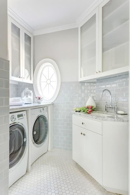 Bear Hill Interiors Fabulous Angled Laundry Room