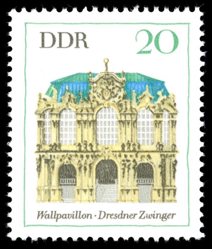 Germany (DDR) 1969 Wallpavillon des Dresdner Zwingers