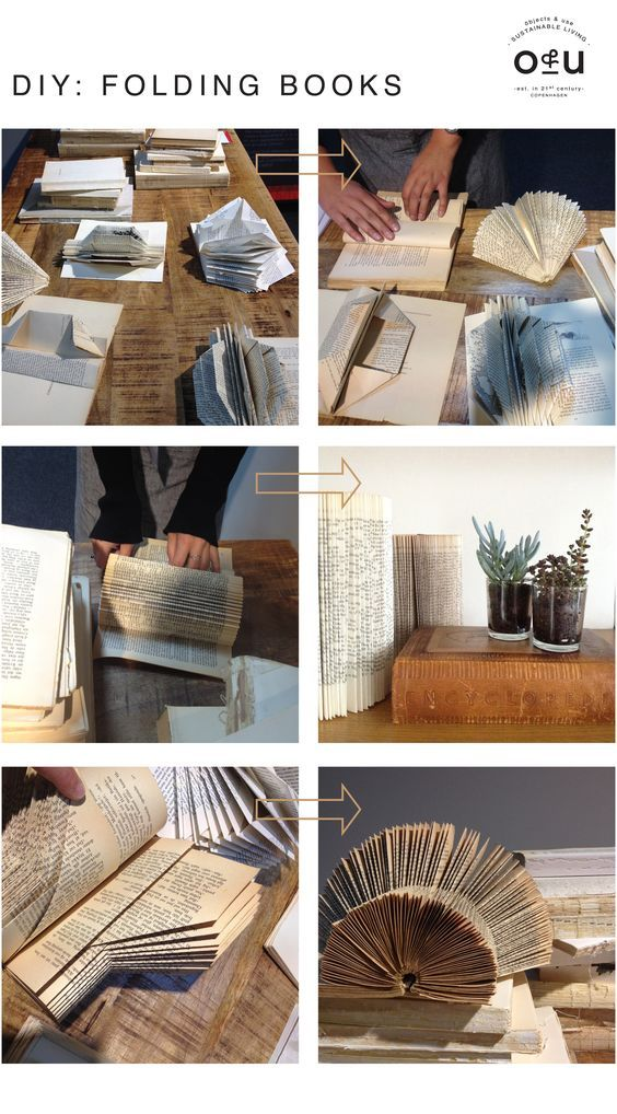 diy FOLDING BOOKS
