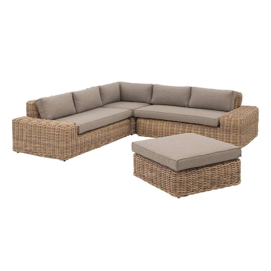 Outliv Yate Loungeecke 4tlg Aluminium Geflecht Mixed Brown Garten Und Freizeit In 2021 Lounge Gartenmobel Lounge Mobelideen