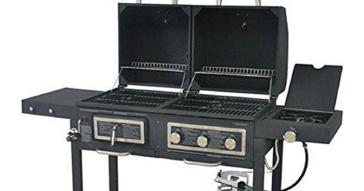 Durable Outdoor Barbeque Burger Gas Charcoal Grill Combo Grilldemon