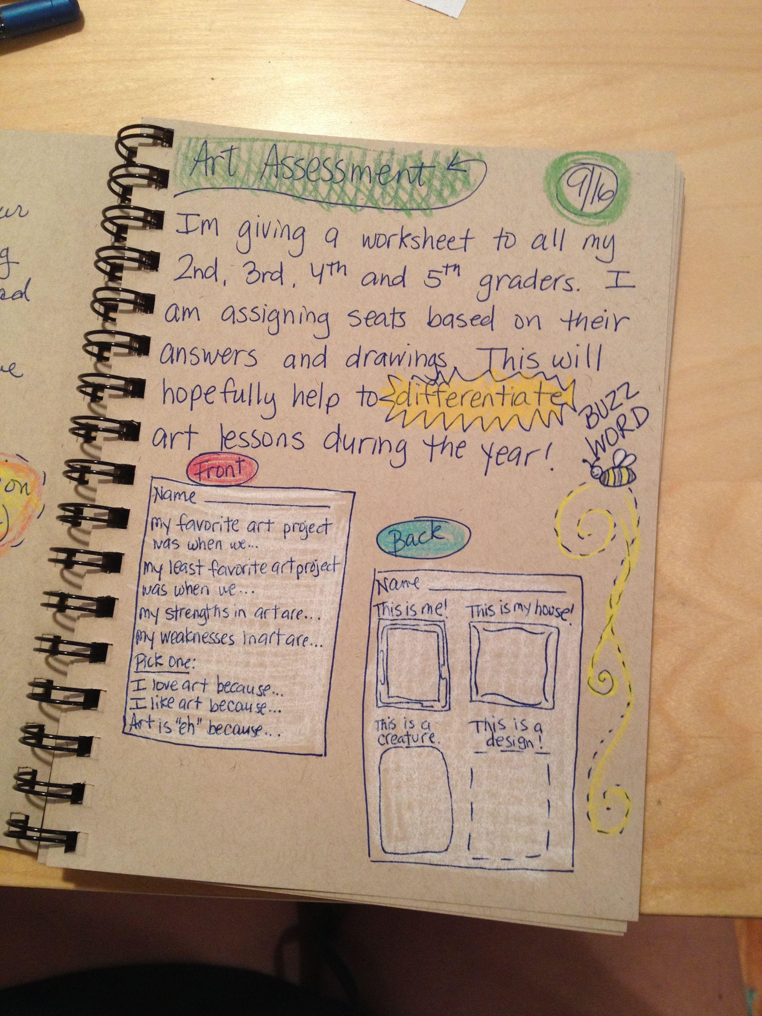 An Art Teachers Journal Assessment And Differentiation In