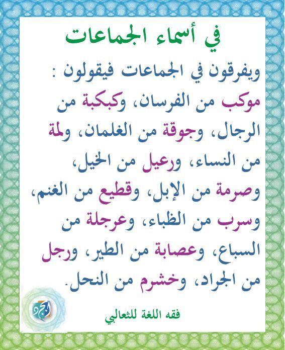 Pin By Smail Coco On أسماء في اللغة Learn Arabic Language Learning Arabic Arabic Language