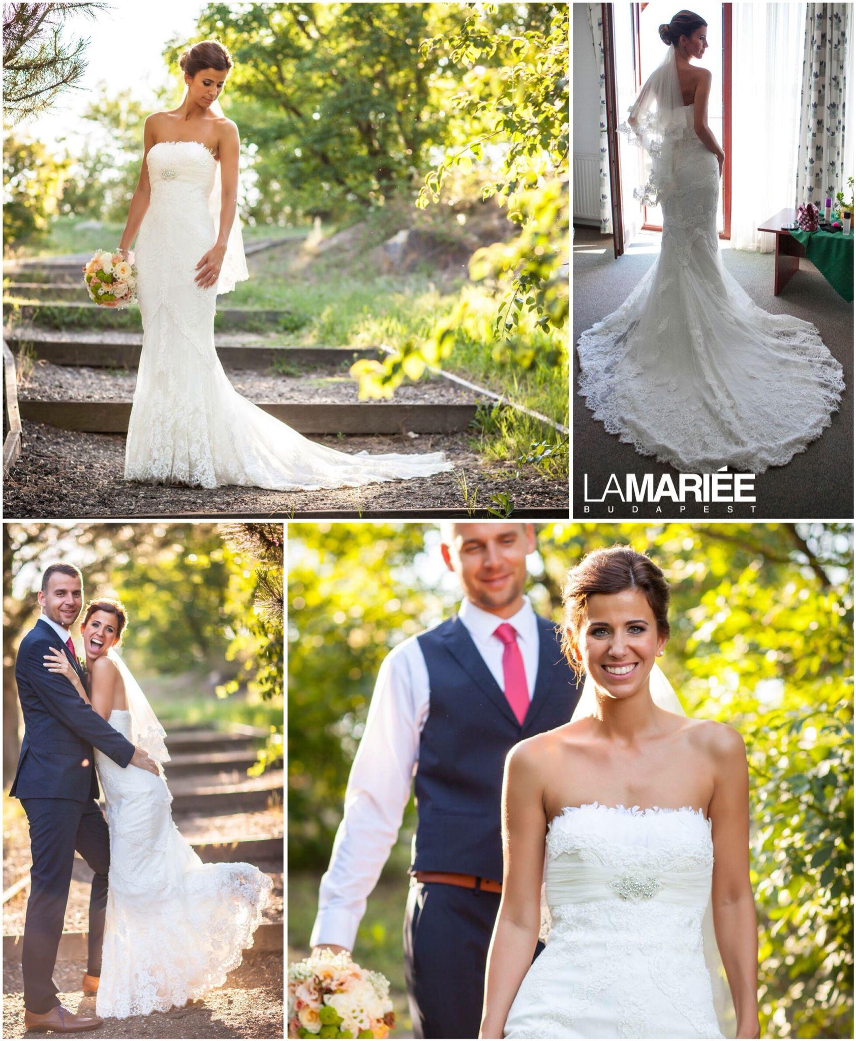 Dietrich esküvői ruha - Pronovias kollekció - Eszter menyasszonyunk  http://mobile.lamariee.hu/eskuvoi-ruha/pronovias-2015/dietrich