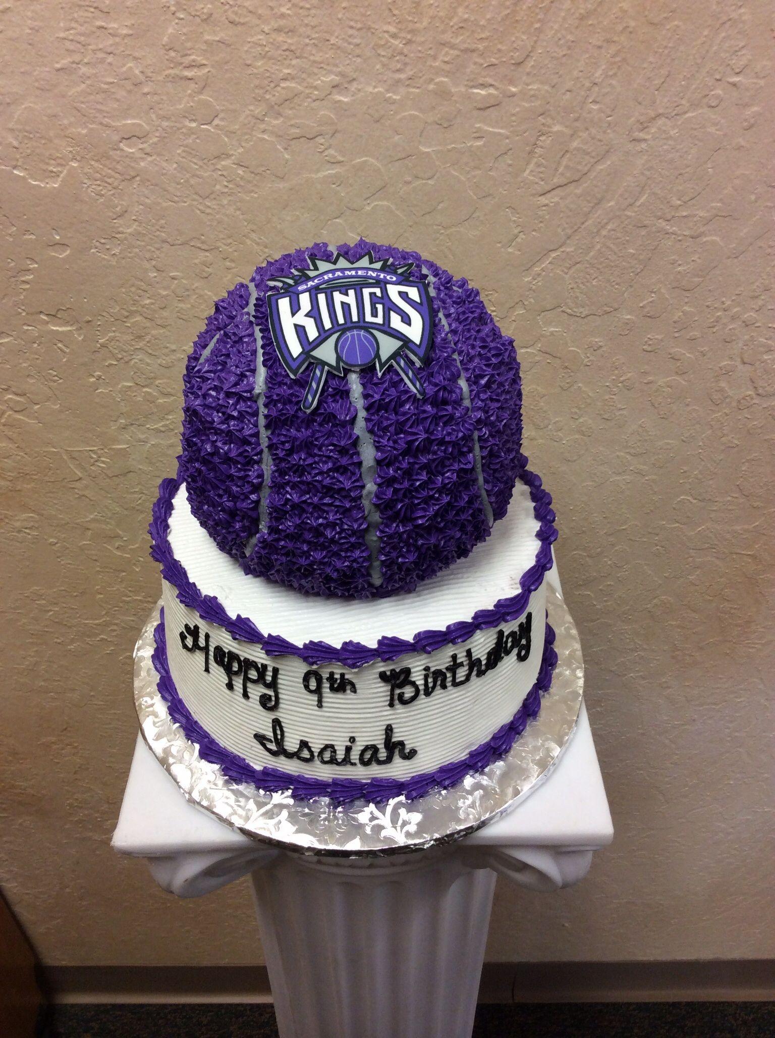 Enjoyable Sacramento Kings Cake Ball Pan On Top Of A 10 Sac Kings Edible Funny Birthday Cards Online Aeocydamsfinfo