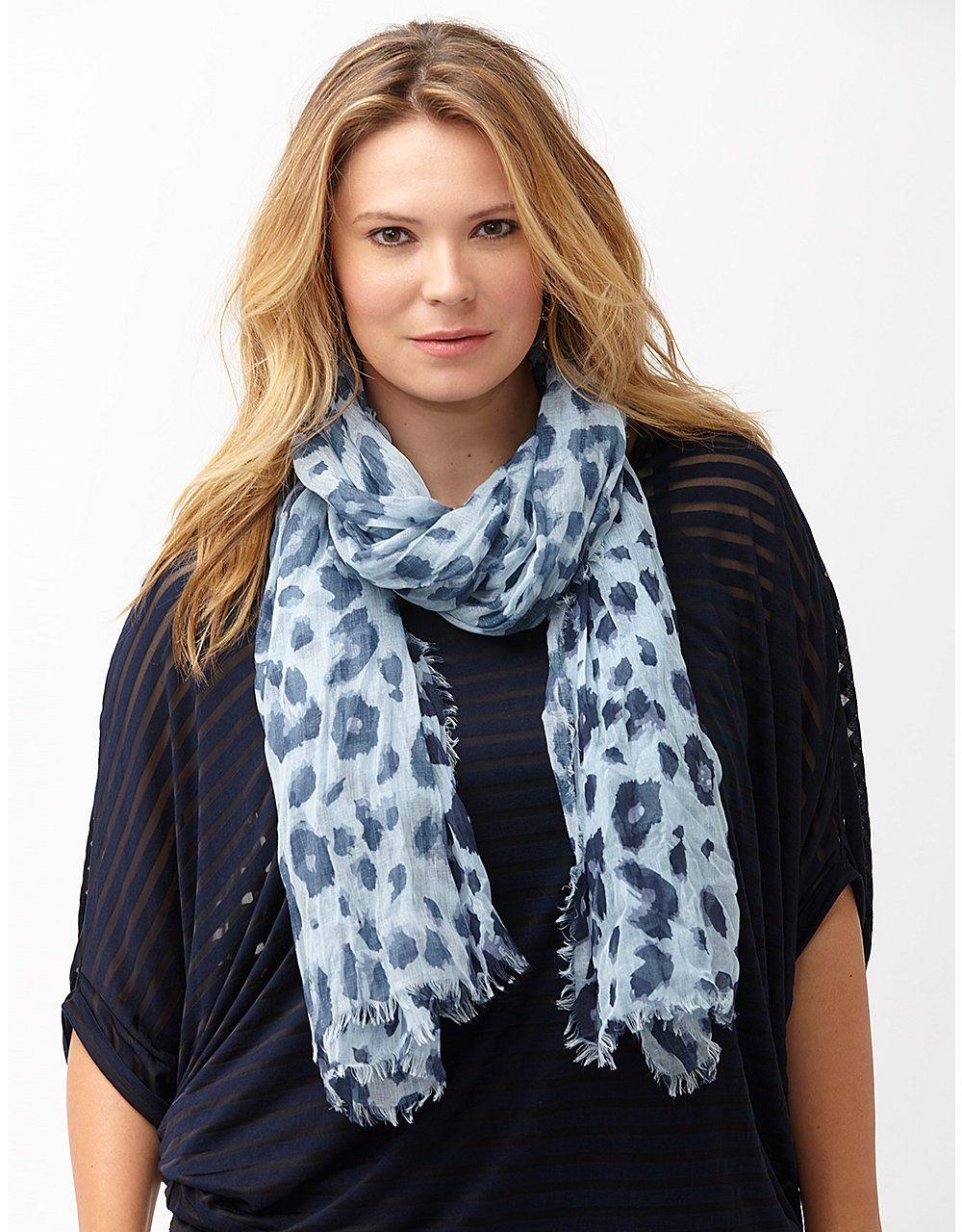 Animal print oblong scarf by Lane Bryant | Lane Bryant