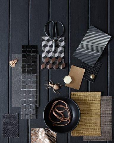 Mit Schwarz Wohnen Mood Board Interior Material Board Mood Boards
