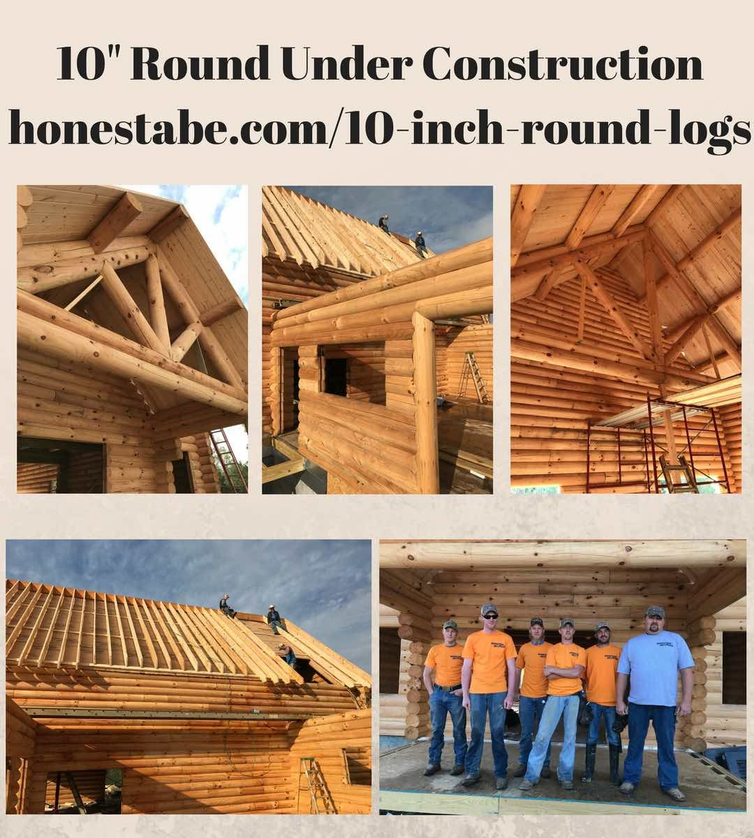 10 Inch Round Logs Milled For Log Cabins By Honest Abe Log Homes Log Homes Patterson Homes Log Home Plans