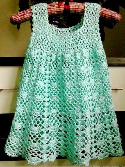 Crochet For Children: Beautiful Lacy Dress - Free pattern | Crochet ...