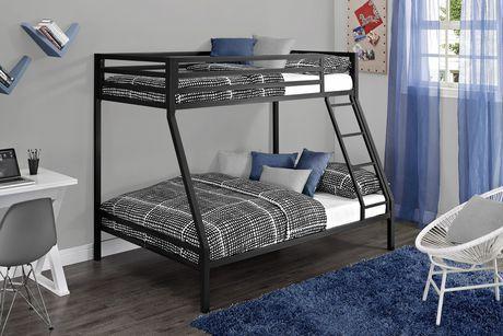 Best Mainstays Twin Over Full Metal Black Bunk Bunk Beds 400 x 300