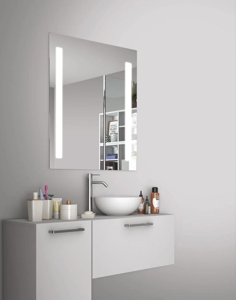 Miroir Lumineux Avec Eclairage Integre L 60 X H 70 Cm Easy Miroir Lumineux Miroir Avec Eclairage Miroir