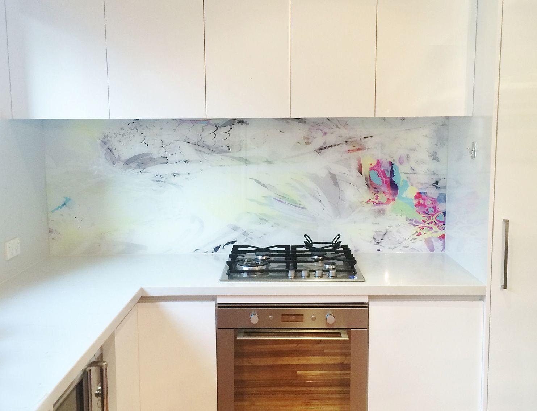 St.Kilda printed splash back   Printed glass splashbacks, Glass ...