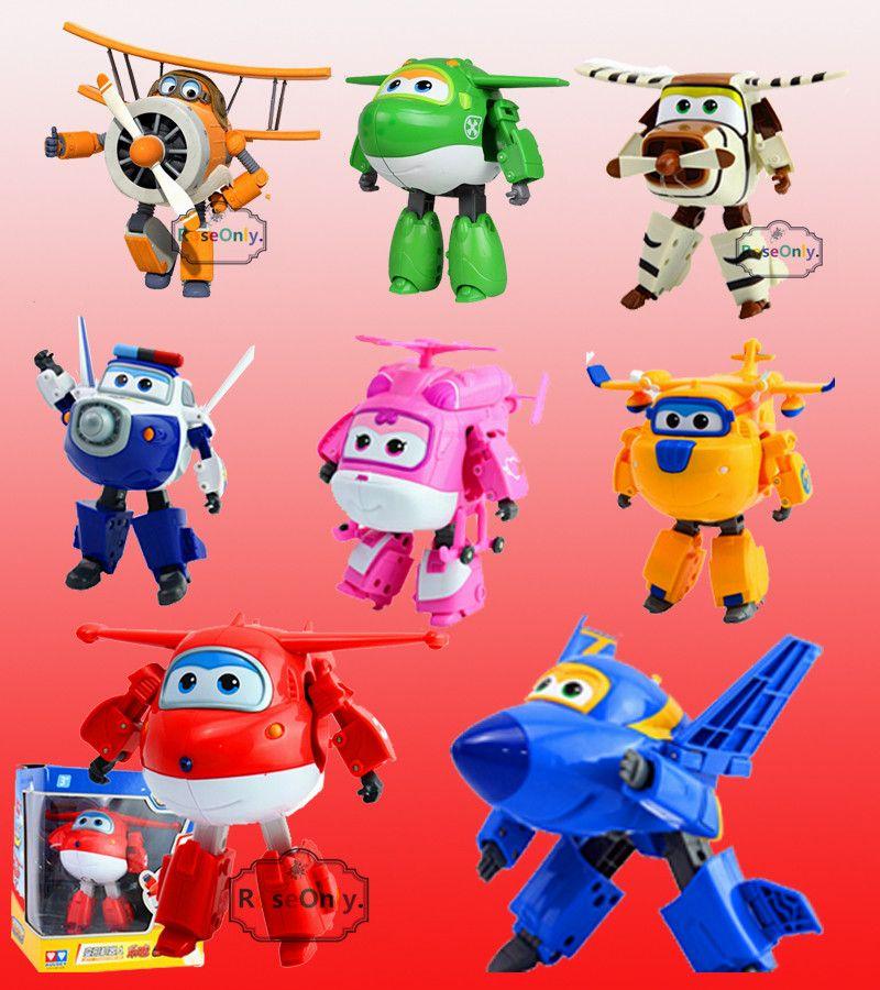 كبيرة الحجم 15 سنتيمتر المبيعات الساخنة سوبر أجنحة Abs الطائرات التحول روبوت طائرة روبوت Brinquedos جيت عمل الش Action Figures Toys Action Figures Toys Gifts