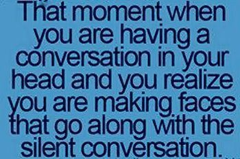 and people start staring at you....