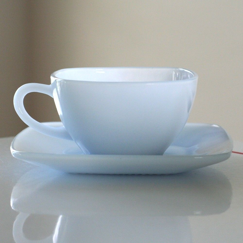 """Azurite """"Charm"""" cup and saucer."""