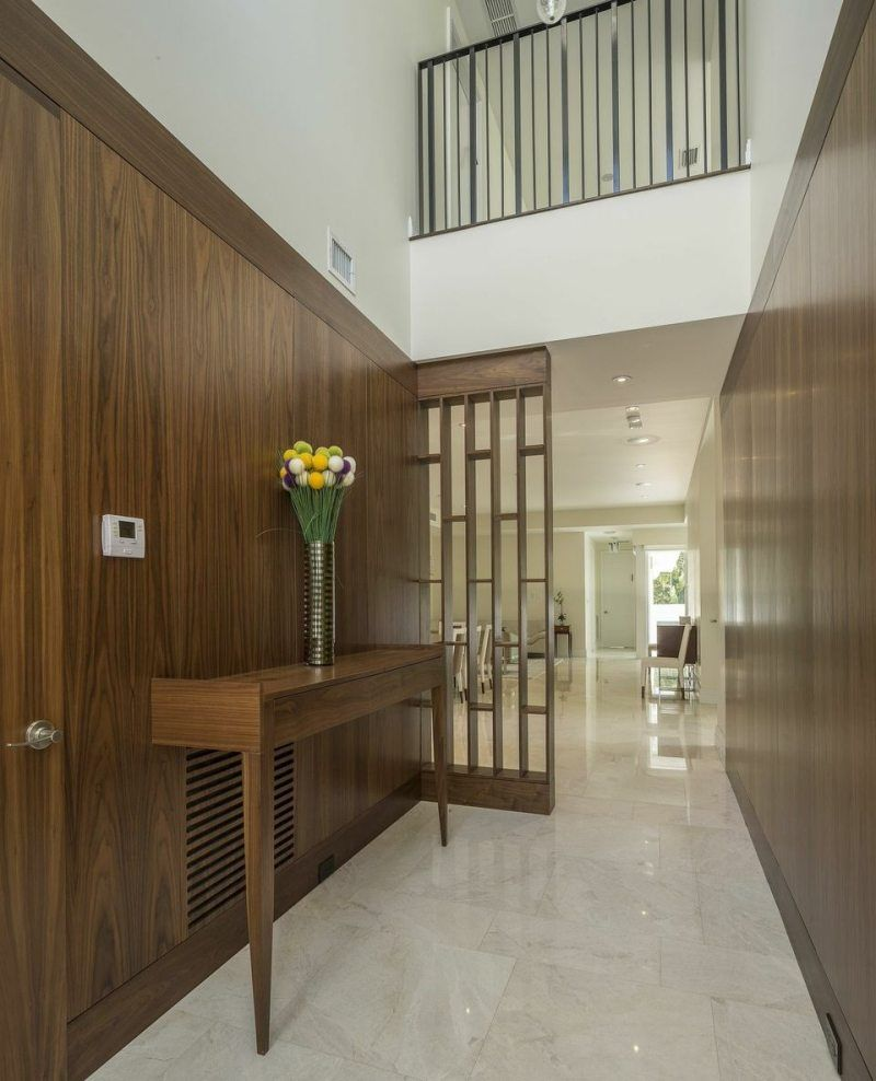 Wood Paneled Hallway Home Stratosphere Http Www Facebook Com Kenisa Home With Images Staircase Design Modern Entryway Home
