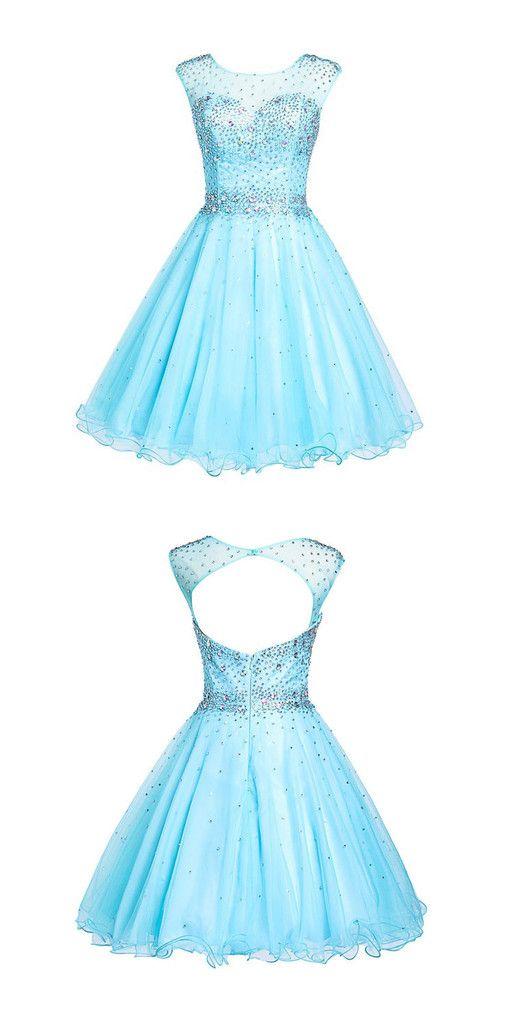 Gorgeous Short Party Dresses,Round Party Dresses,Tulle Party Dresses ...