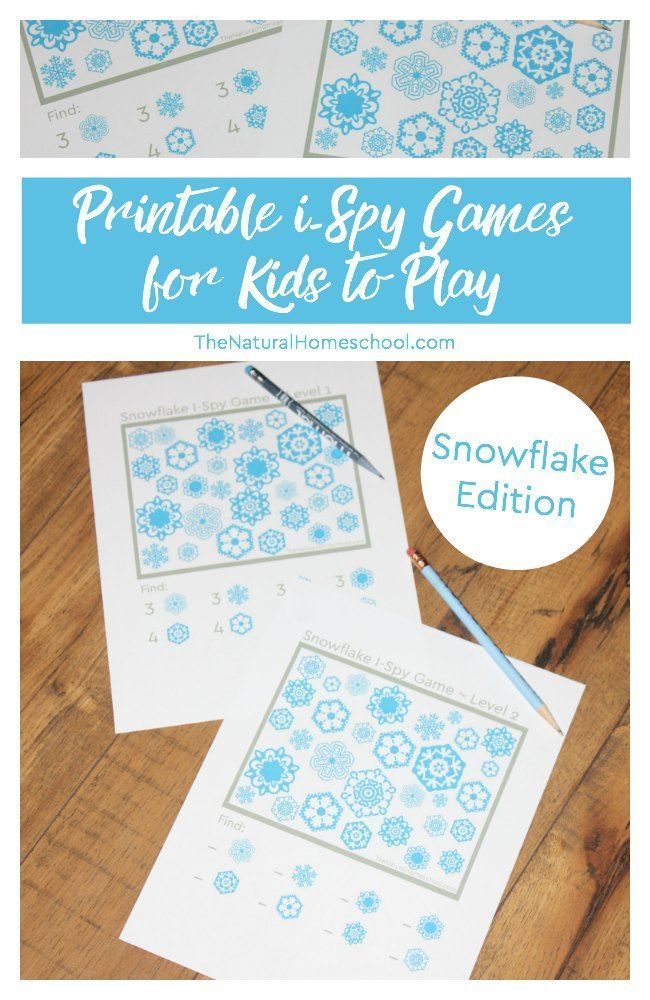 Printable i-Spy Games for Kids to Play ~ Snowflake Edition ...