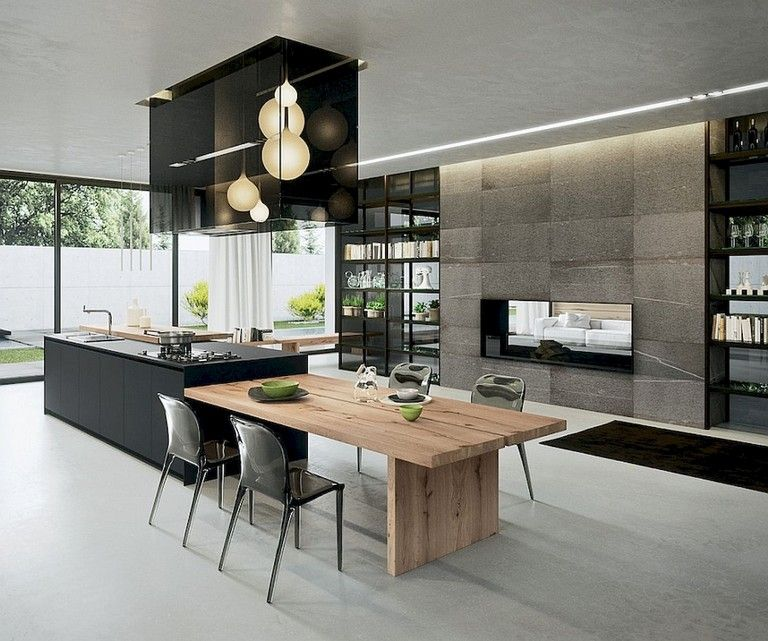 Table Cuisine Ilot: 56+ Amazing Modern Kitchen Design Ideas And Remodel