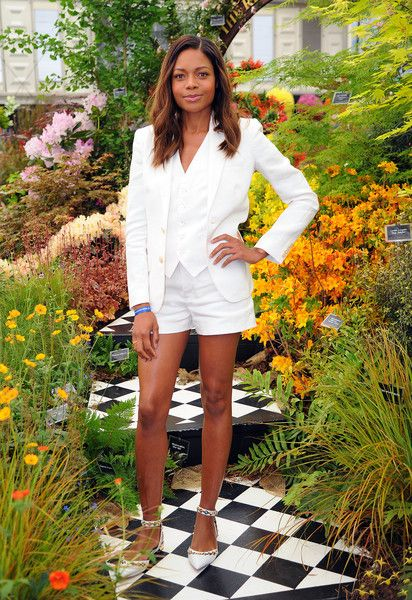 Naomie Harris attends Chelsea Flower Show press day at Royal Hospital Chelsea on May 23, 2016 in London