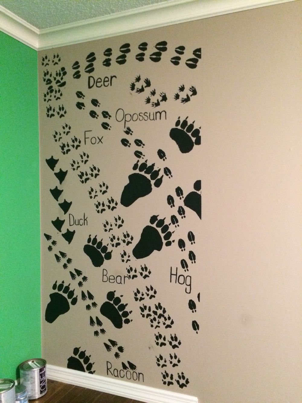 Animal Prints With Homemade Stencils Baby Room Pinterest