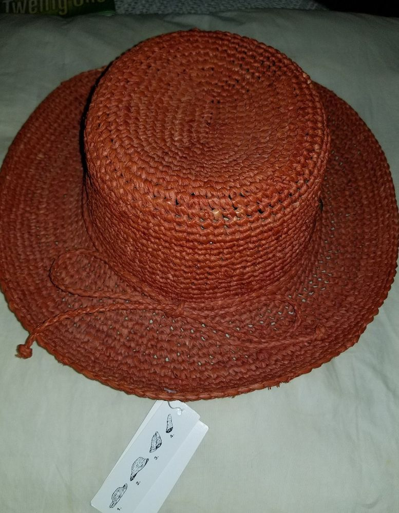 NWT Ladies Scalia Collection Packable Crushable Raffia Red Hat One Size   Scala  CrushableRaffiaHat 867c9cc6a46c