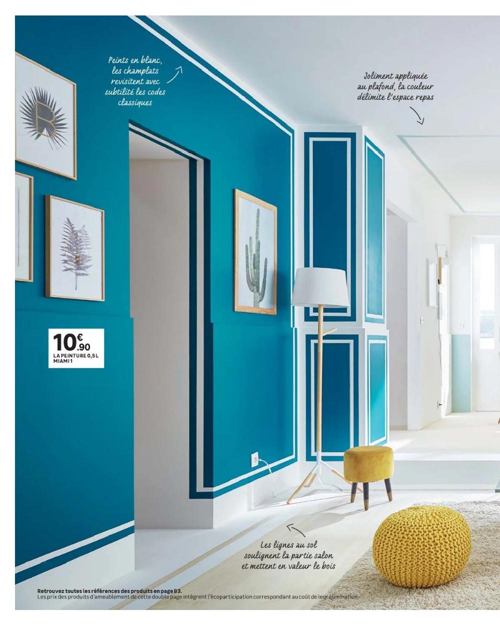 Inspiration Salle A Manger Bleue Salon Plafond