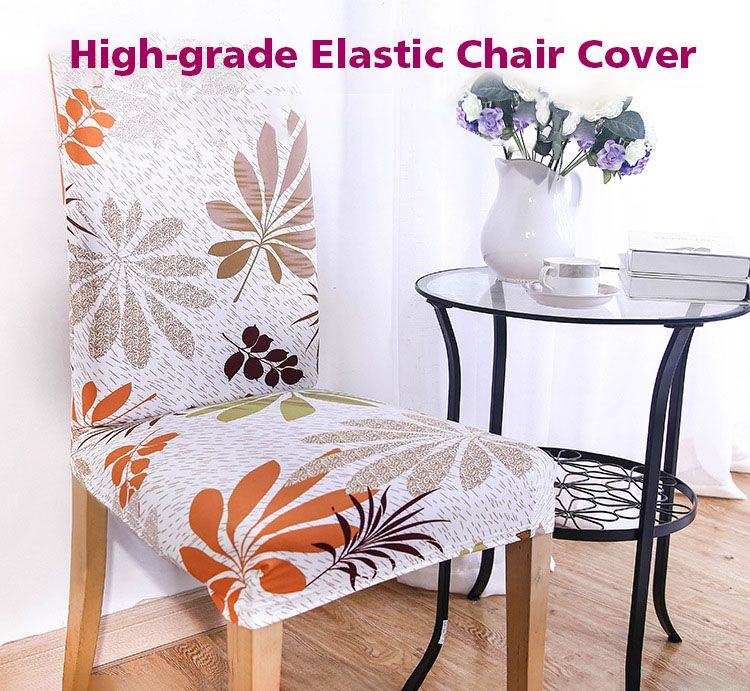 Kcasa Wxpp3 Elegant Flower Elastic Stretch Chair Seat Cover Mesmerizing Stretch Covers For Dining Room Chairs Decorating Design