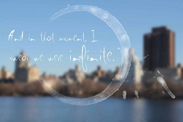and in that moment we were infinite - perks of being a wallflower