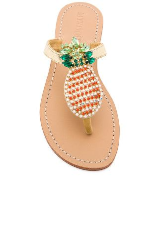 04761185452a9 Mystique Pineapple Sandals in Gold