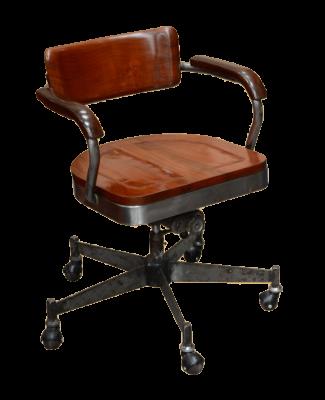 fauteuil de bureau industriel en acier pieds toile - Chaise Bureau Style Industriel