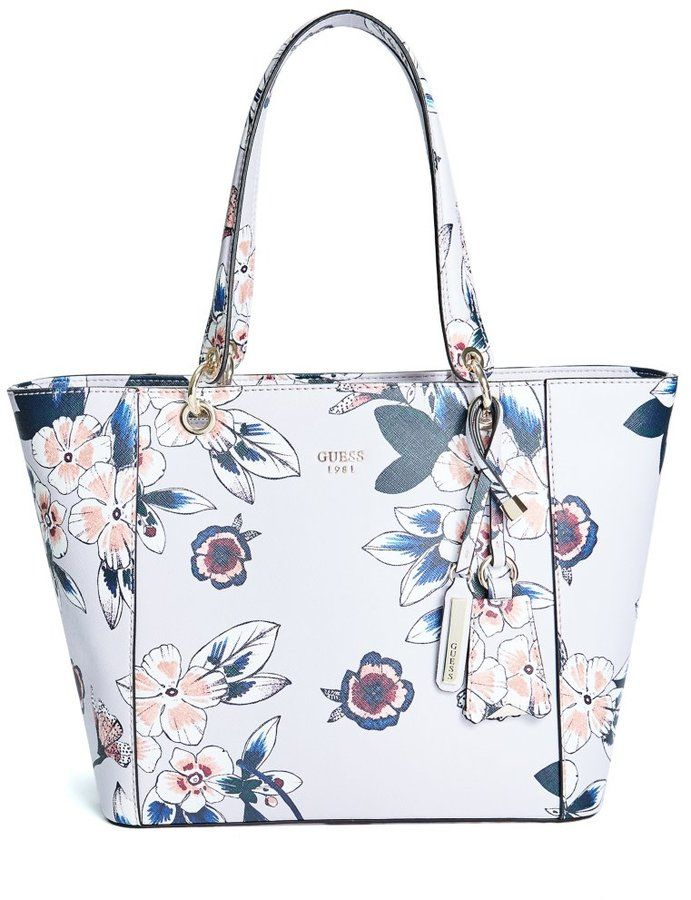 Guess Kamryn Floral Tote Guess Purses Tote Bags