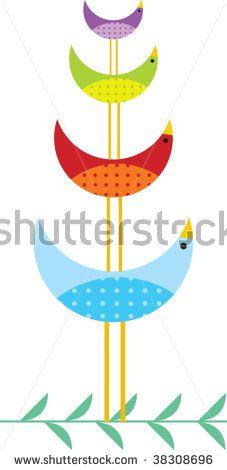 Birds Family Stock Vector 38308696 : Shutterstock