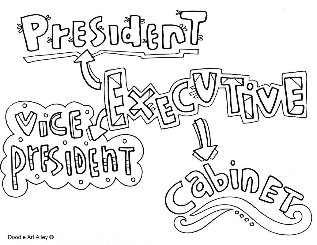 Branches Of Government Coloring Pages On Classroom Doodles
