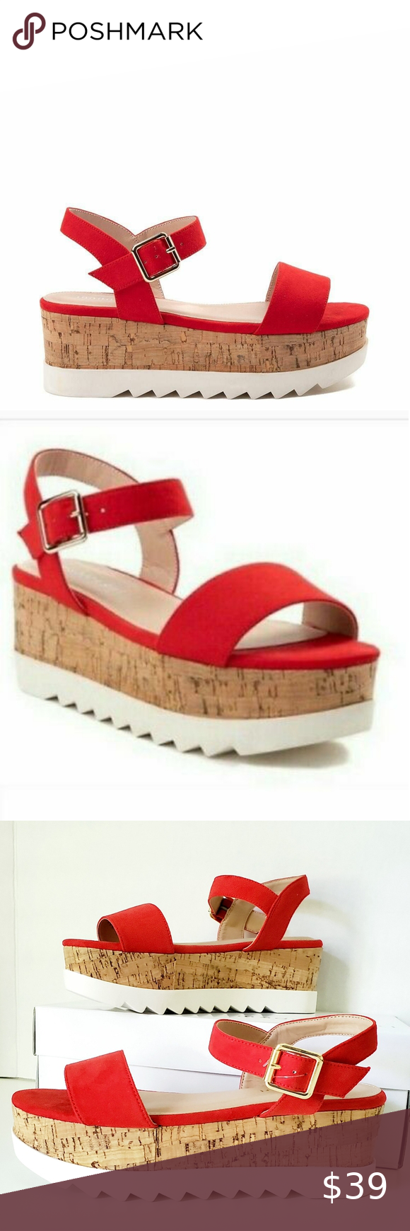 Madden Girl Sabrina Red Sandals NWB in