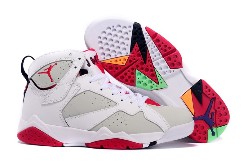 Authentic Air Jordan 7 Hare White Light Silver-True Red For Sale In WoSize