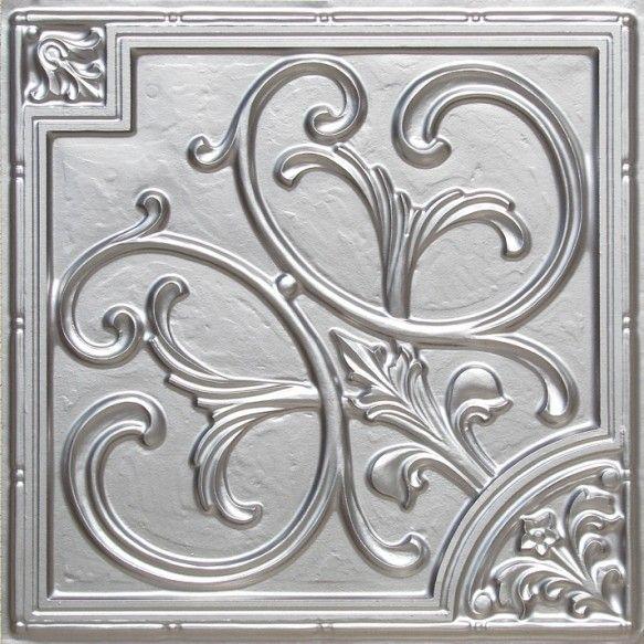 "PVC 24x24"" ceiling tiles --- use 4 for entry design"