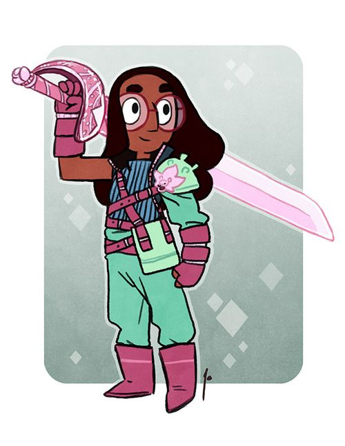 Final Fantasy connie steven universe that rose sword was so huge XD crossover nonsense